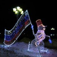 Снеговик-патриот. :: Люба