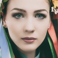 Portrait with Ukrainian folklore ribbons. Studio A. Krivitsky. :: krivitskiy Кривицкий