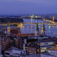 Река Дунай при сумерке :: Георгий А
