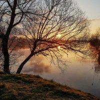 Рассвет забрезжил утром рано над тихо спящею рекой. :: Валерий Ткаченко