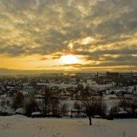 Рассвет над посёлком Сроитель. :: Андрей Ярославцев
