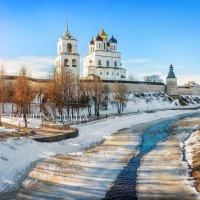 Кремль с реки Псковы :: Юлия Батурина