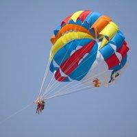 Полёт на парашюте :: Наталья Цыганова