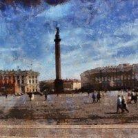 Я по Дворцовой площади пройду вдоль Зимнего с орлами на решетке... :: Tatiana Markova