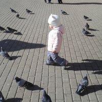 танец с голубями :: Владимир