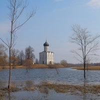 Весна, Храм Покрова на Нерли :: Евгений Седов