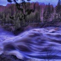водопад меняет свою одежду вечером :: Георгий А