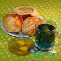 Немного экзотики: синий чай анчан с травой ацтеков и вареньем из одуванов :-) :: Андрей Заломленков