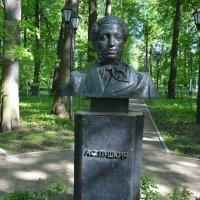 Памятник А.С. Пушкину в парке Больших Вязём :: Александр Буянов