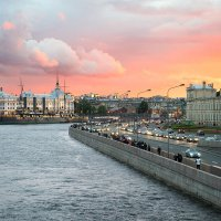Июньский закат над Большой Невкой :: Алексей Смирнов
