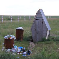 ТУАЛЕТ на границе между Россией и Казахстаном! :: Штрек Надежда