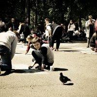 Мальчик и голубь.... :: Андрей Головкин