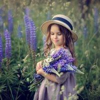 Девочка с люпинами :: Виктория Дубровская