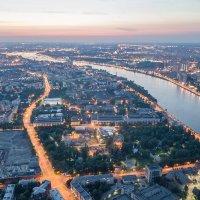 Аэрофотография - ночная Нева :: Дмитрий Балагуров