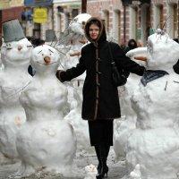 Арбатская снегурочка. :: Борис Бутцев