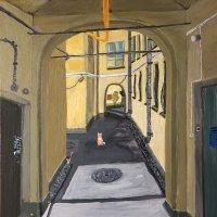 Моя картина «Лето в питерских дворах» :: Ирина Коноплёва