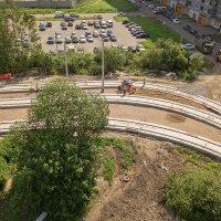 """Строительство кольца """"Чижика"""" на Ржевке СПБ / Аэрофтография :: Дмитрий Балагуров"""