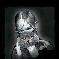 Девочка с котом. :: Сергей