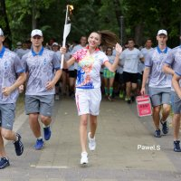 Факельное шествие-забег. Минск-2019. Евроигры два почти начались. :: Павел Сущёнок