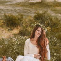 ромашковый закат :: Лена Лиманова