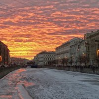 Закат на Мойке. :: Elena Ророva