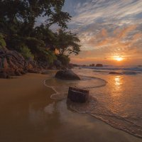 закат на пляже :: Дамир Белоколенко