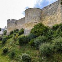 фортифиувционные стены замка Монтрейль-Беллэ :: Георгий А