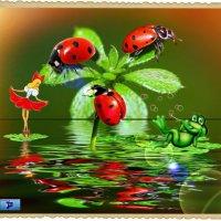 Дюймовочка и лягушонок...в стране божьих коровёнок. :: Anatol Livtsov