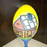 Моя роспись по дереву пасхального яйца. :: Светлана Калмыкова