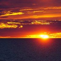 Багряный закат :: Сергей Беляев