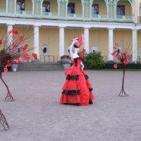 Дама в красном ... :: Татьяна