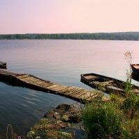 Тихий вечер на озере... :: Нэля Лысенко