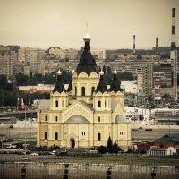 Вид на собор Александра Невского на Стрелке.. :: Андрей Головкин