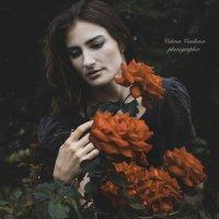 Уличный арт-портрет с розами :: Валерия Васильева