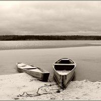 из архива. Поздняя осень.морозные ночи сковывают озеро льдом. :: Ольга Митрофанова