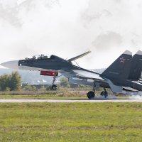 Су-30СМ посадка :: Александр Святкин