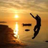 Летний вечер на берегу Белого моря :: Ольга Sad