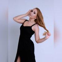 Модельные тесты, девушка в чёрном платье :: Ксения OKDMUSE