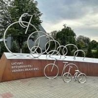 Памятник 25-ого латвийского велопробега Единства :: veera (veerra)