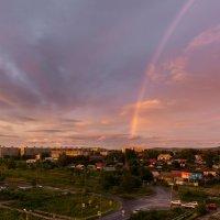 Вечерняя радуга в последний день лета. :: Виктор Иванович Чернюк