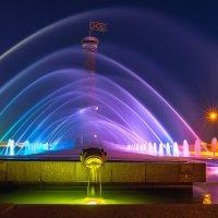 Ночной фонтан в парке :: Дмитрий Рутковский