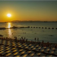 Вечерний пляж :: Андрей Дворников