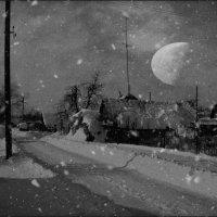 Зима на деревенской улице :: Глeб ПЛATOB