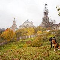 Древний Торжок. Вид на Борисоглебский монастырь с валов :: Тата Казакова