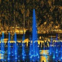 Ижевск вечерний, новый цветомузыкальный фонтан :: Владимир Максимов