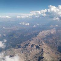 Горный пейзаж (вид с высоты из иллюминатора) :: Galina Solovova
