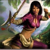 Woman-warrior samurai. (работа выполненная на графическом планшете Huion.) №126. :: Anatol Livtsov