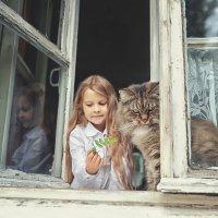 С котом Бубуней :: Надежда Антонова