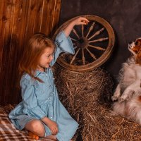 Девочка с собачкой :: Александра Пак