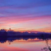 Закат на реке Журавка :: Валерий Ткаченко